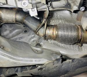 BMW f10 изготовление down pipe