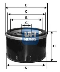 Купить Фильтр масляный для DACIA LOGAN 16V (UFI)