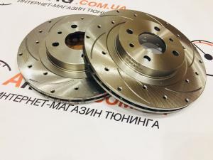 Купить Тормозные диски ВАЗ 2112 перед. вент., лев+прав.,18 отв., 8канавок (пр-во АЛНАС)
