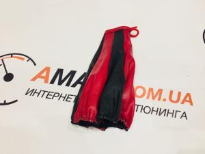 Купить Чехол ручки КПП ВАЗ длинный кожаный (red)