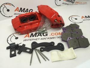 Кит-комплект передних дисковых тормозов на ВАЗ 2108-10-12 (4-х поршневые суппорта BREMBO)