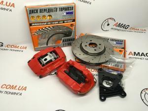 Купить Кит-комплект передних дисковых тормозов на ВАЗ 2101-07 (4-х поршневые суп