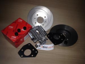Кит-комплект задних дисковых тормозов на переднеприводные ВАЗ