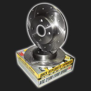 Купить Тормозные диски ВАЗ 2108-099 c перфорацией и канавками (ATC)