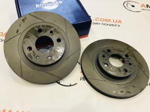 Купить Тормозные диски ВАЗ 2110-12 перед. вент.+канавки R14 (T1) (ROTINGER)