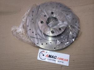 Купить Тормозные диски ВАЗ 2170-2172 вентилир. с перфор. и канавками (Liga-group