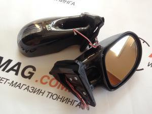 Купить Зеркала ВАЗ 2101-03-06 с повторителем (BLACK) люкс